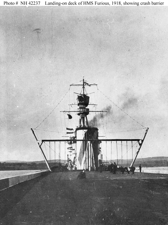 Landing deck of HMS Furious